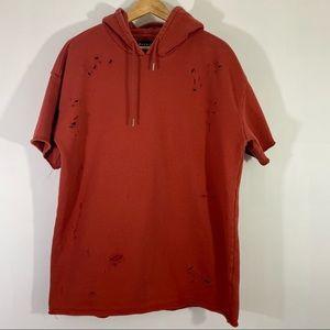 Mens Pacsun Men's Boxy Fit Red Hoodie Sweatshirt M